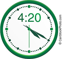 420 clock - suitable for user interface