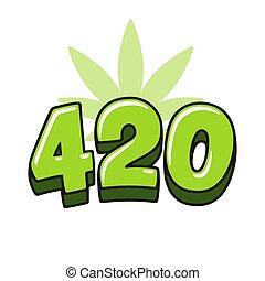 420, foglia, marijuana