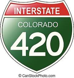 420, interstatale, colorado, segno