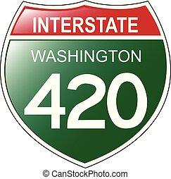 420, interstatale, washington, segno