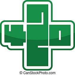 420 symbol marijuana cross logo sign