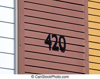 420 Numbers on side of Building