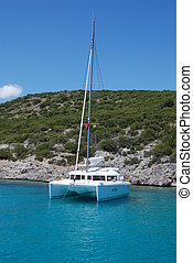 421, przywilej, katamaran, jacht, laguna