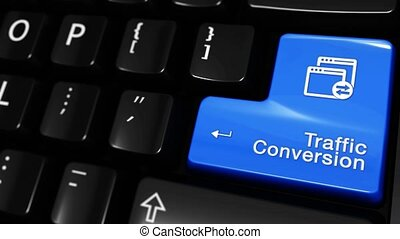 434. Traffic Conversion Moving Motion On Computer Keyboard...