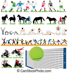 44 Sport Silhouettes Set