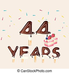 44 years Happy Birthday card
