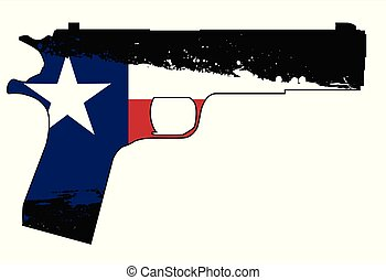 45 Automatic With Texan Flag