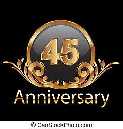 45, gelukkige verjaardag, jubileum