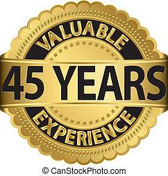 45, gol, valioso, años, experiencia