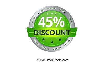 45 percent discount - Green Animated 45 percent discount...