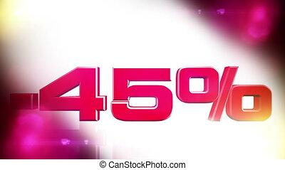 45 percent OFF 01 - 45 percent OFF discount animation