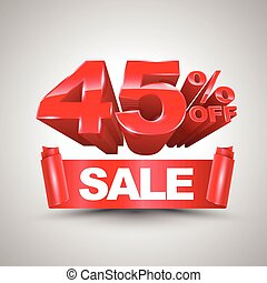 45 percent off sale red