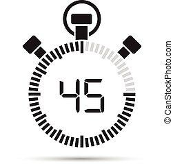 45, sekund, tidmätare