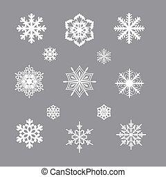 45 snowflakes