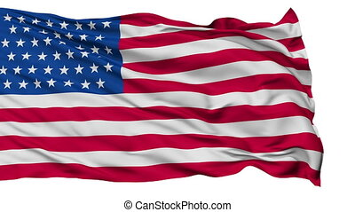 45 Stars USA Isolated Waving Flag