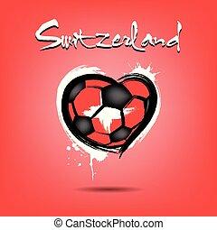 4527 - Denmark heart soccer