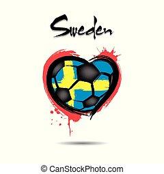 4528 - Denmark heart soccer