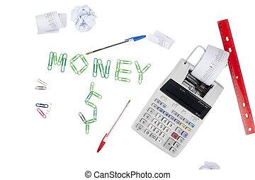 453, het berekenen, geld, concept