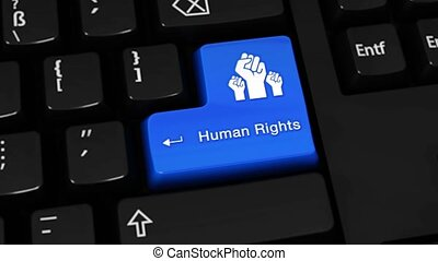 456. Human Rights Rotation Motion On Computer Keyboard Button.