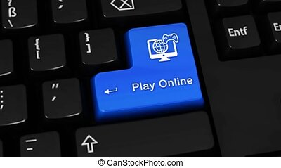 459. Play Online Rotation Motion On Computer Keyboard Button.