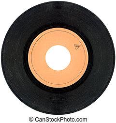 45rpm, cutout, vinylverslag