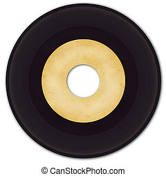 45 rpm Vinyl Record with grungy blank label.