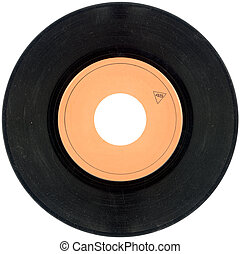 45rpm Vinyl record cutout - Empty Gramophone vinyl record...