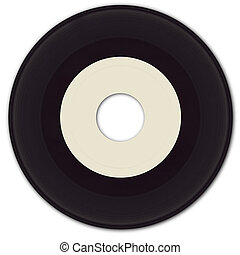 45rpm Vinyl Record - 45 rpm Vinyl Record with blank label.