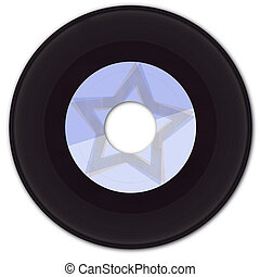 45rpm Vinyl Record with Fake Label