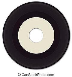 45rpm, vinyl teckna uppe