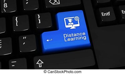 468. Distance Learning Rotation Motion On Computer Keyboard Button.
