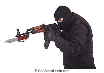 47,  Ak, bayoneta, arma de fuego,  mercenary,  witn