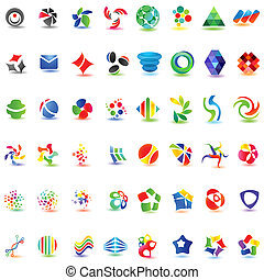 48 different colorful vector icons: (set 2)