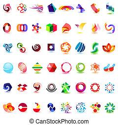48, różny, barwny, wektor, icons:, (set, 4)