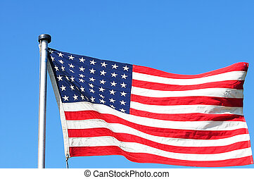 48 Star Version of US Flag - Stars and Stripes with 48...
