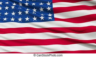 48 Stars USA Close Up Waving Flag