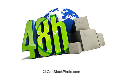 48h delivery all around the world