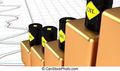 49., huile, huile, diesel, prix hausse, fuel., rising.