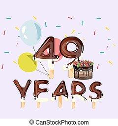 49 years Happy Birthday card