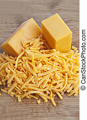 492 cheddar cheese - Close up image of cheddar cheese on...