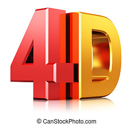 4d, technologie, symbool, bioscoop