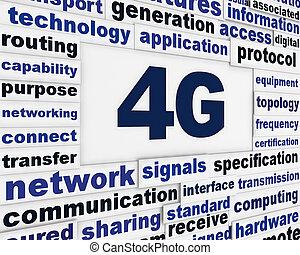 4g, メッセージ, デザイン, コミュニケーション
