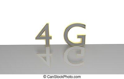 4G 3d text.
