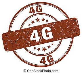 4g brown grunge stamp