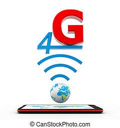 4g, connexion, tablette