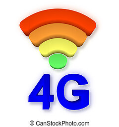 4g, en, signaal, symbool