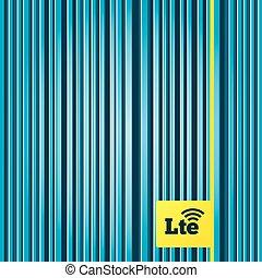 4G LTE sign. Long-Term evolution symbol.