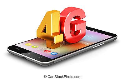 4g, lte, trådløs teknologi, begreb