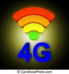 4g, signaal, symbool