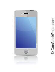 4G smart phone illustration design